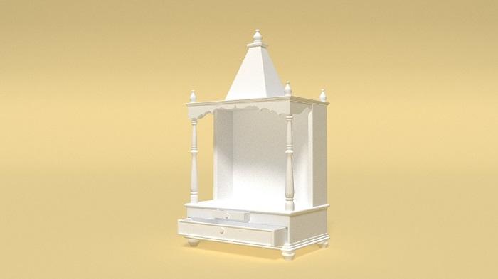 深褐色泰国神庙