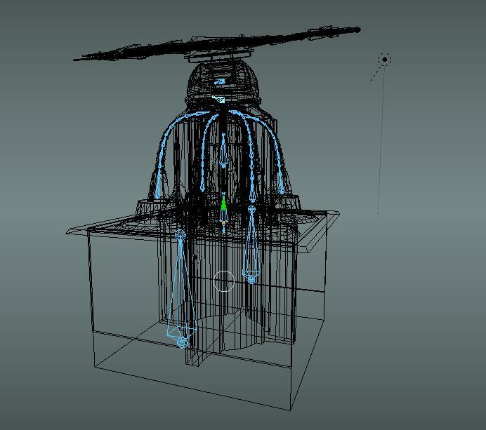 未来科幻太阳能塔(带动画)