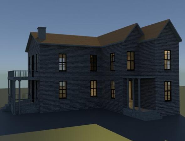 木质双层小楼
