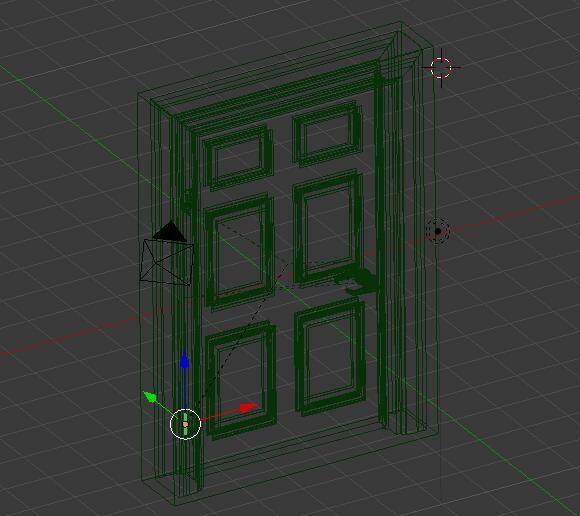 带门框的门