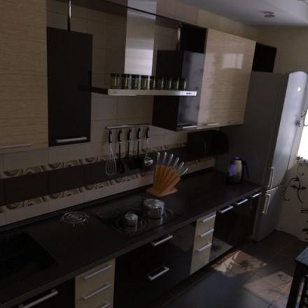 西式厨房冰箱