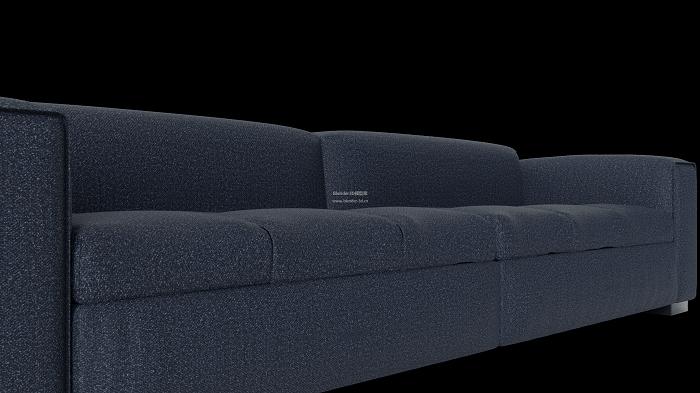 蓝色布料沙发