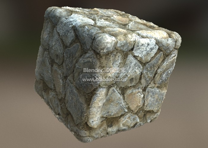 灰色石块墙壁凹凸纹理材质