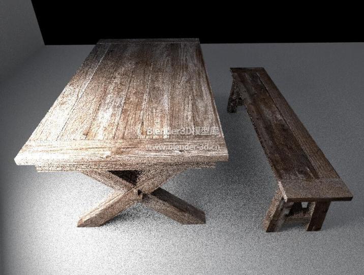 木质长条桌椅