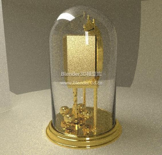 金色玻璃罩座钟