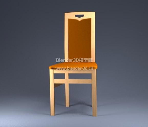 实木靠背椅