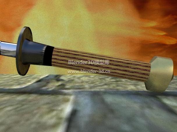 日本武士长刀剑