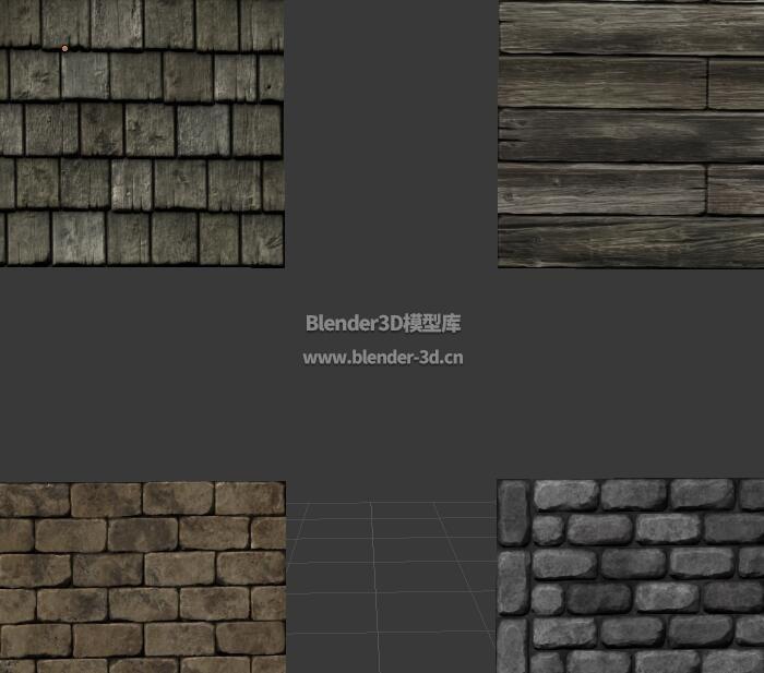 木板石砖墙壁