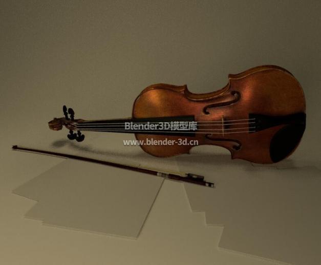 带琴弓小提琴