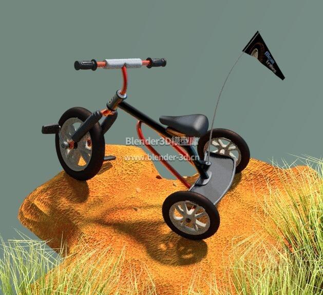 山地儿童三轮车
