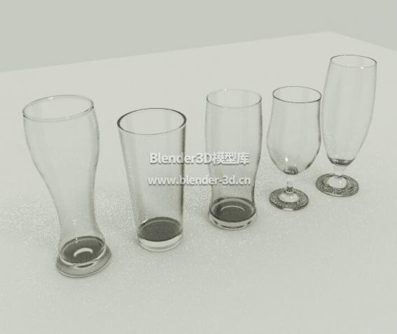 五种玻璃水杯