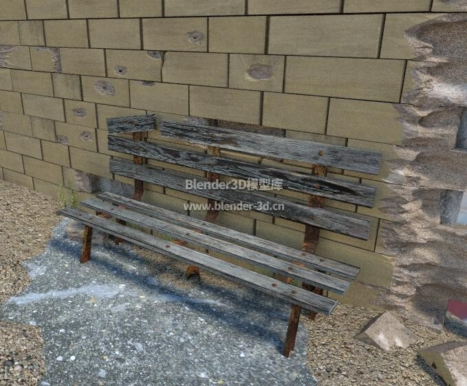 弹孔残破墙壁椅子