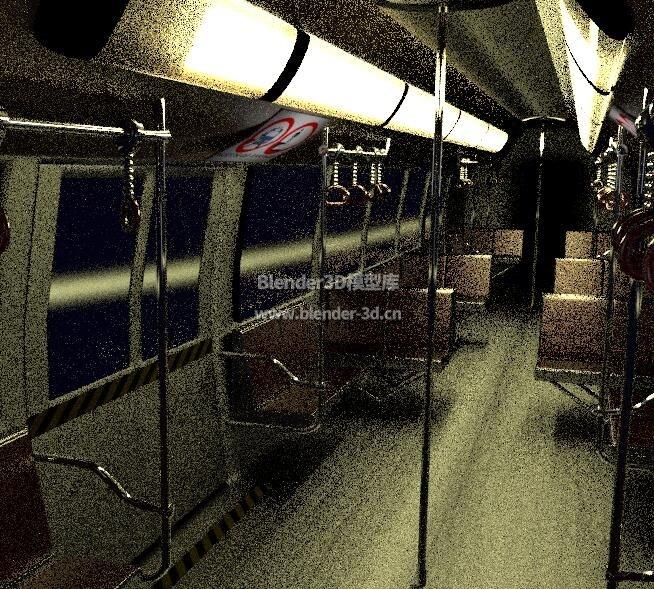地铁车厢内景