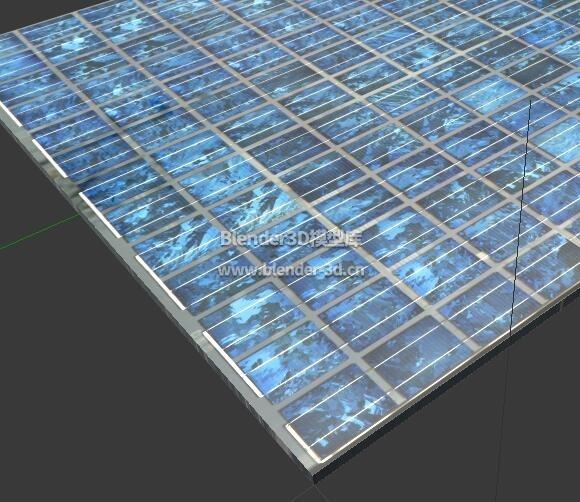 破旧太阳能电池板