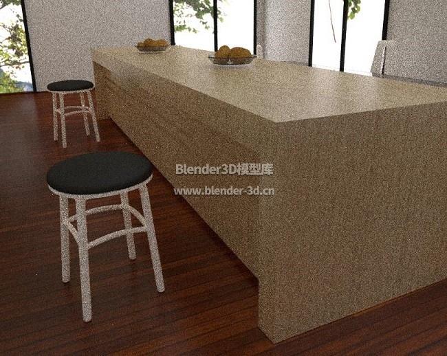 简易西式实木厨柜厨房