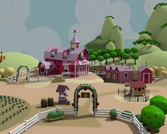 童话卡通苹果庄园