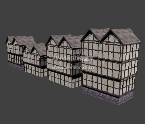 中世纪多层房屋