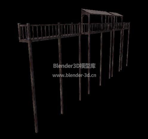 中世纪吊脚阳台