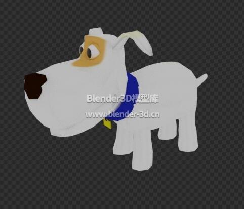 卡通白色小狗