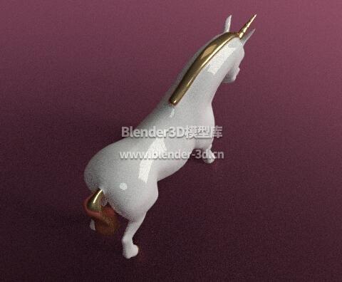 陶瓷独角马