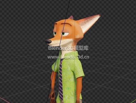 rig疯狂动物城尼克·王尔德Nick Wilde狐狸