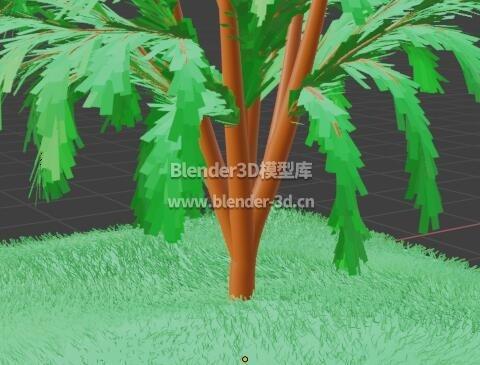 青草地小树