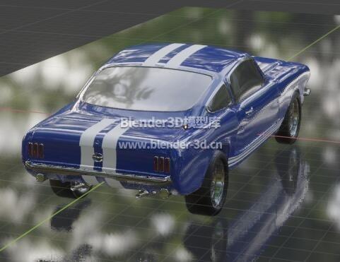 蓝色肌肉车