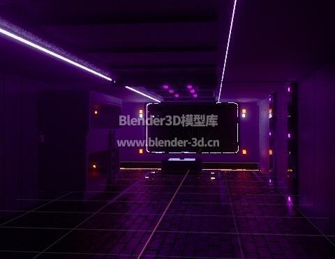 科幻科技感卧室