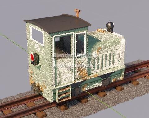 破旧牵引机车火车头