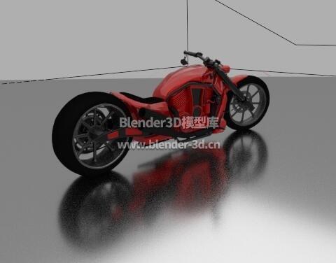 红色科幻摩托车