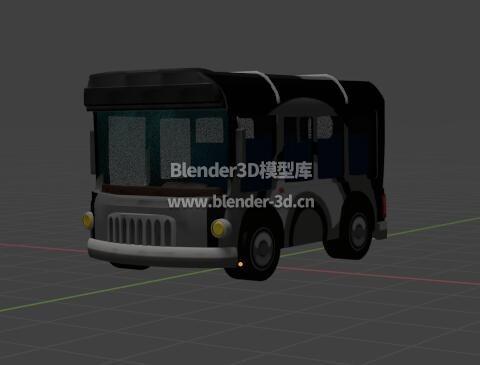 卡通小巴士公交车