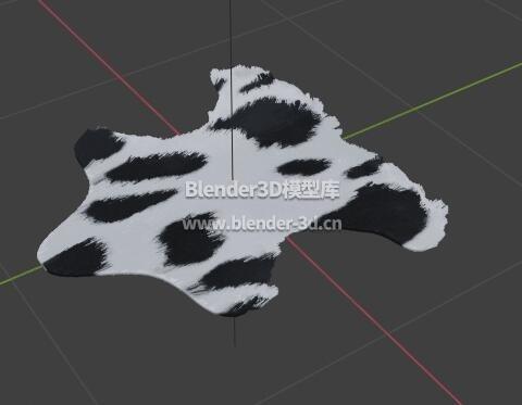 黑白奶牛地毯子毛毡