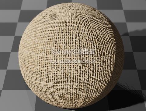 粗亚麻编织布料