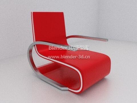 红色艺术椅子