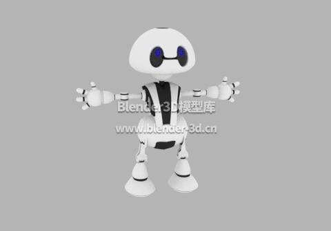 白色小型机器人