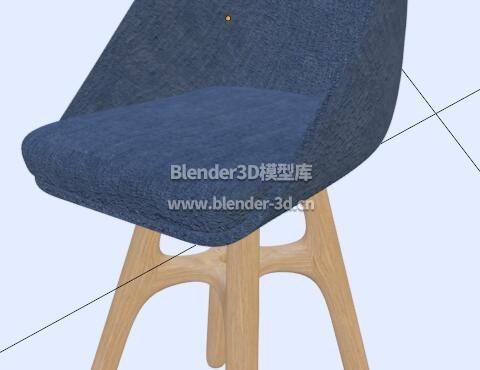 现代木靠背椅子