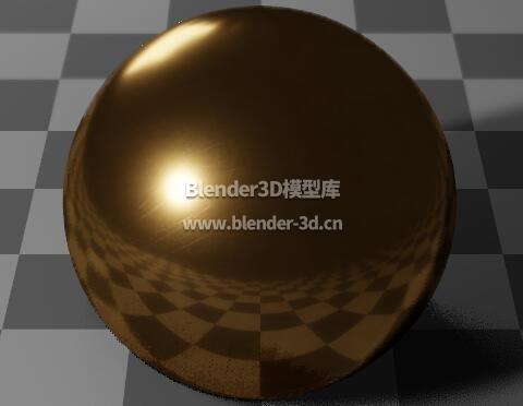 PBR抛光黄铜