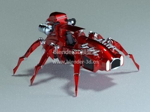 科幻蜘蛛爬行汽车