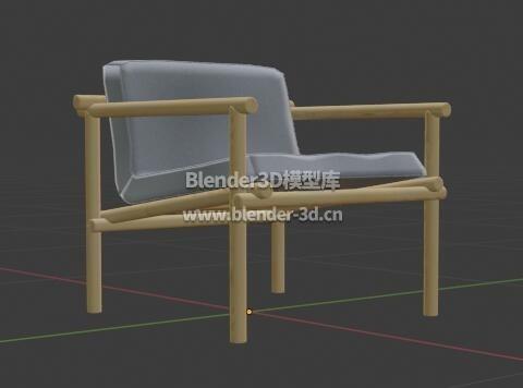 木架软垫椅子