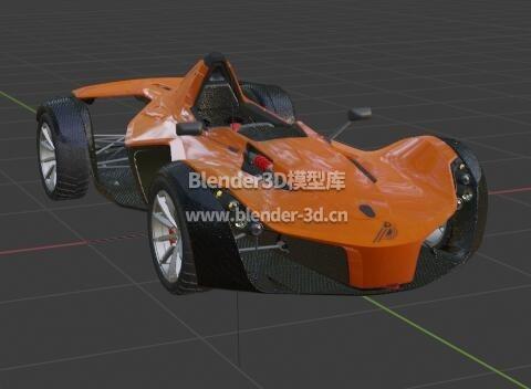 橙黑色赛车