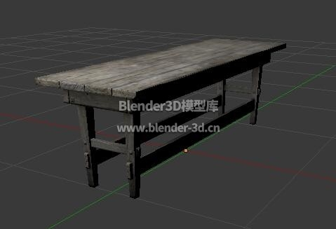灰色老旧木长条凳子