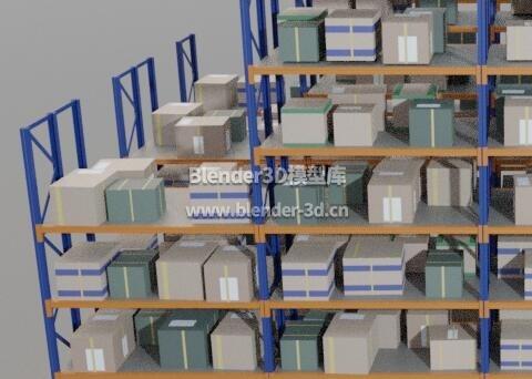 堆满货物的仓储货架