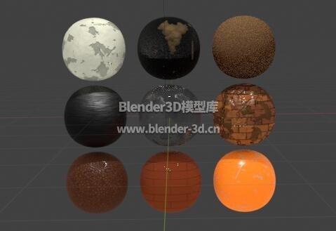 9个程序性材质球合集