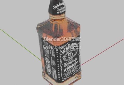 一瓶杰克·丹尼威士忌酒