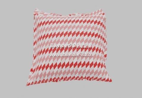 红方格子枕头抱枕靠枕