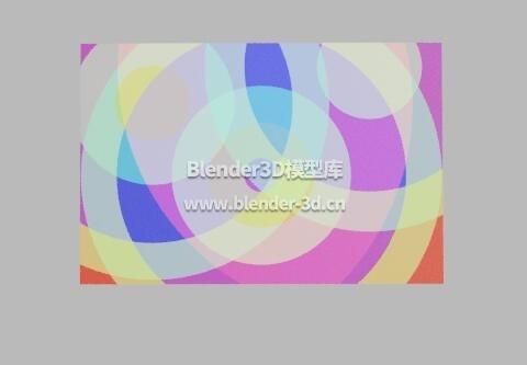 五彩圆圈抽象画框