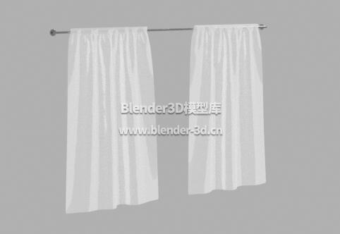 简易白色窗帘