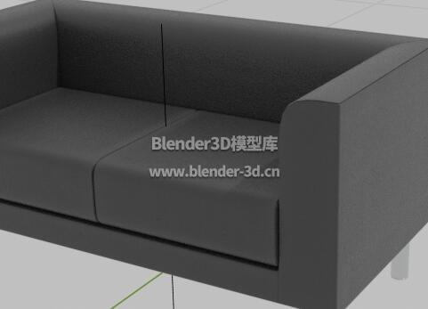黑色长沙发椅子