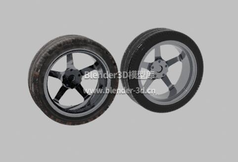 干净脏污两种汽车轮胎