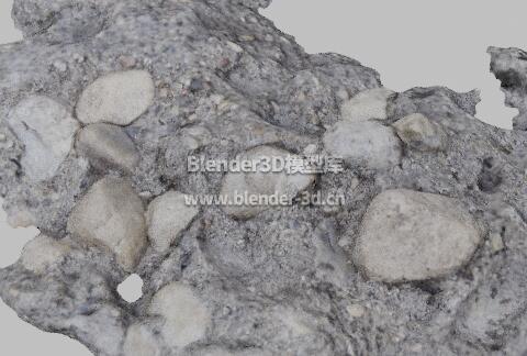 水泥混凝土石料堆